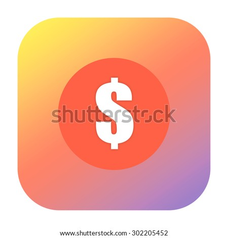Money icon with dollar mark on the coin - stock photo