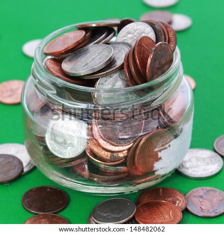 Money in a jar - stock photo