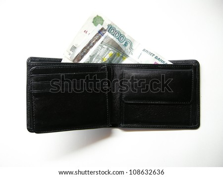 Money in a purse
