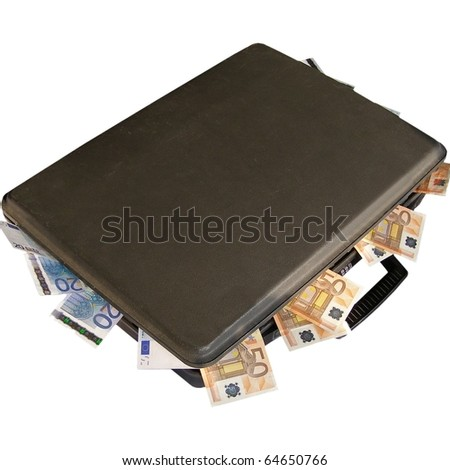 Money in a suitcase - stock photo
