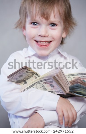 money in children's hands