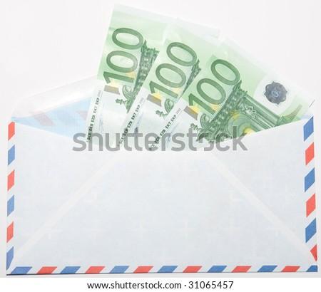 Money in the envelope - stock photo