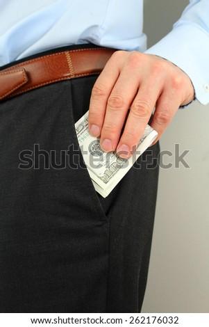Money in the pocket - stock photo
