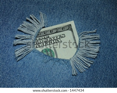 money & jeans (see more in portfolio) - stock photo
