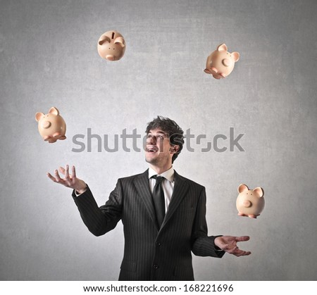 Money Juggling - stock photo