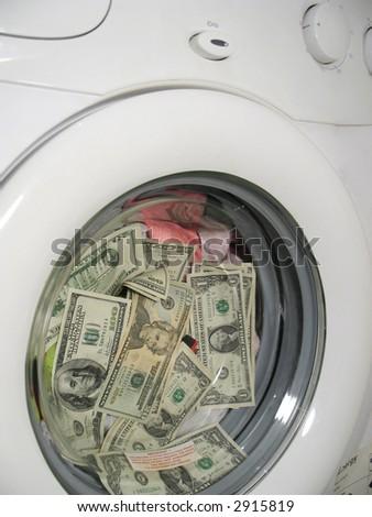 Money laundering concept 4 - stock photo
