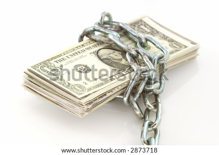 money lock with an old chain.. more like this look out   in my portfolio