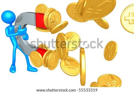 Money Magnet Concept - stock photo