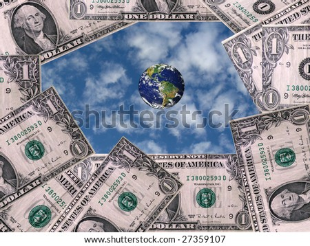 money makes world go around - stock photo