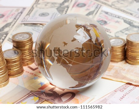 money on the table - stock photo