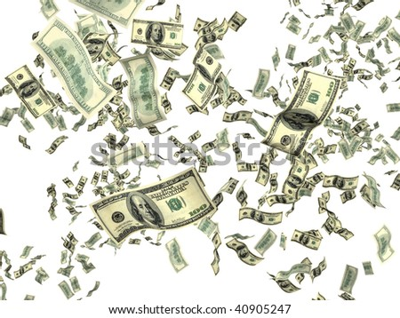 Money on white background - stock photo
