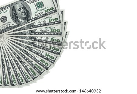 Money Pile $100 dollar bills - stock photo