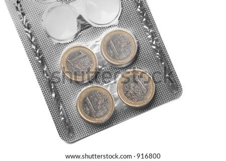 Money pills - stock photo