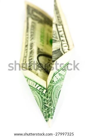 money plane - stock photo