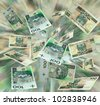 Money polish flying - stock photo