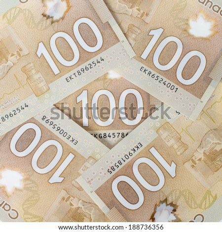 Money polymer version forming a nice background - stock photo