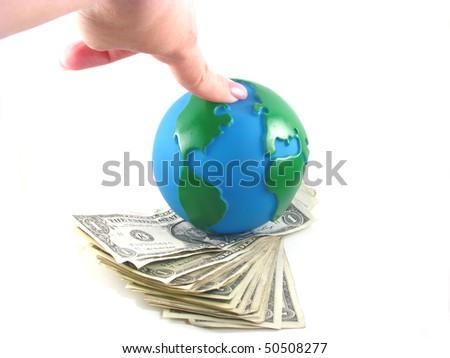 Money Ruling the World - stock photo