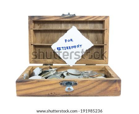 money saving for retirement - stock photo