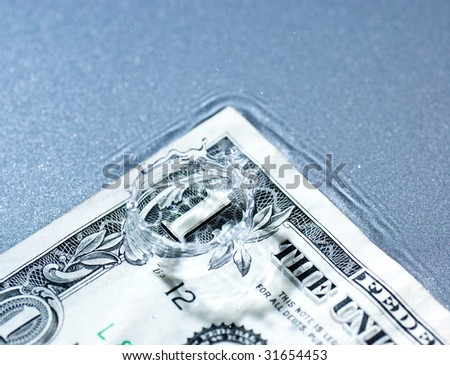 Money Splash - stock photo