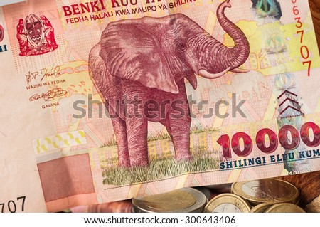 Money Sri Lanka Bill one and two Euro Coins - stock photo