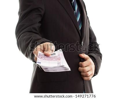 Money talk.Business concept - stock photo