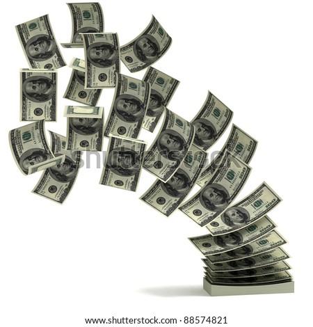 money transfer 3d concept - stock photo