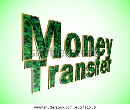 Money Transfer lettering - 3D illustration