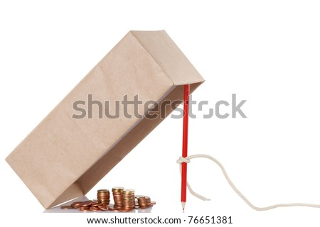 Money trap isolated on white background, fraud concept - stock photo