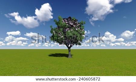 Money tree concept - stock photo