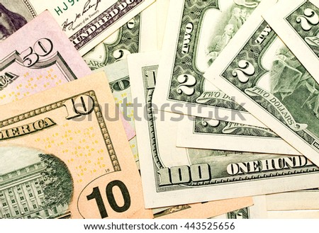 Money, US dollars, paper notes