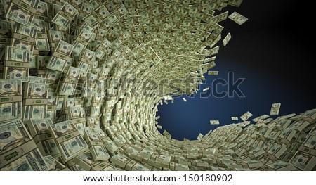 Money Wave - stock photo