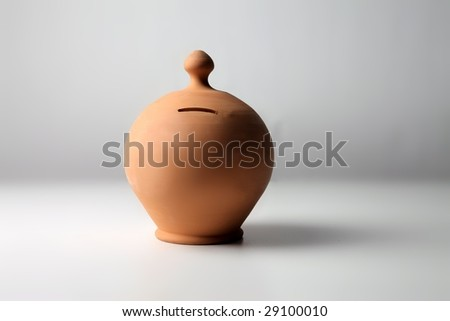 moneybox isolated on a white background - stock photo