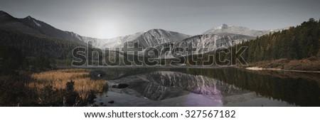 Mongolia Nature Travel Destination Attractive Concept - stock photo