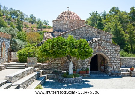 Moni Thari, Rhodes, Greece. - stock photo