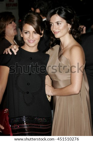 Monica Cruz and Penelope Cruz at the Global Green USA Pre-Oscar Celebration to Benefit Global Warming held at the Avalon in Hollywood, USA on February 21, 2007. - stock photo