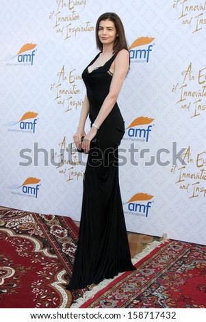Monica Gabor at the 10th Alfred Mann Foundation Gala, Robinson-May Lot, Beverly Hills, CA 10-13-13 - stock photo