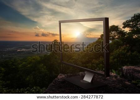 Monitor computer - stock photo