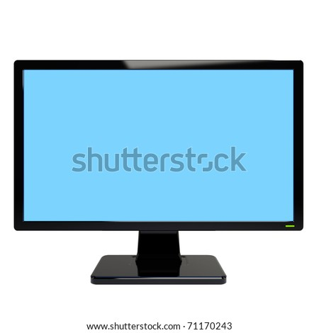 Monitor. Isolated in a studio on a white background - stock photo