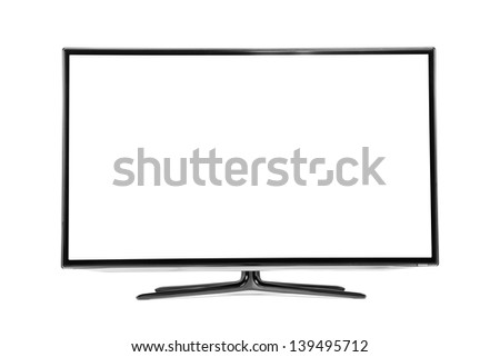 monitor isolated on white - stock photo