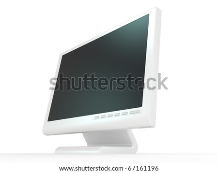 Monitor lcd, tv realistic 3D illustration.
