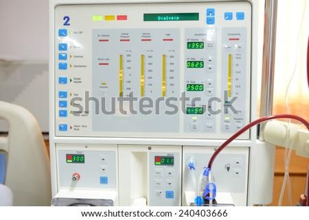 monitor of dialysis machine  - stock photo
