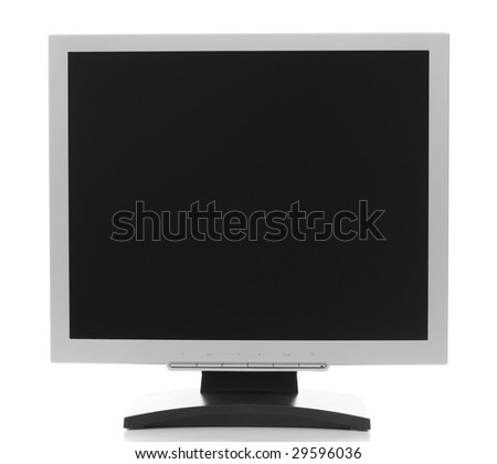 Monitor on a white background. - stock photo