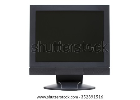 monitor on the white background