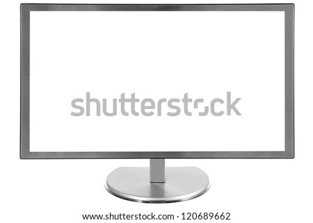 monitor screen. File contains a path to cut - stock photo