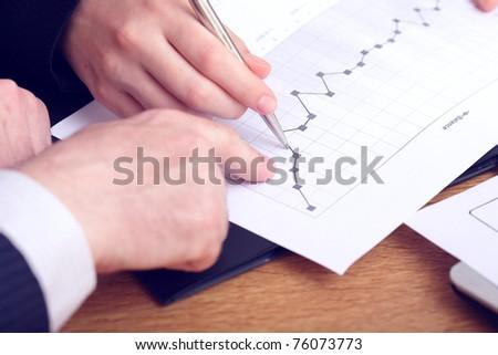 Monitoring company balance dynamics - stock photo