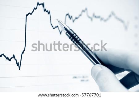 Monitoring of stock index dynamics. - stock photo