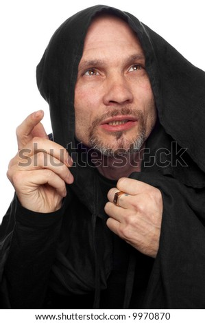 monk or maybe sorcerer - stock photo