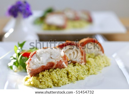 Monk fish stock images royalty free images vectors for Monkfish and parma ham recipe