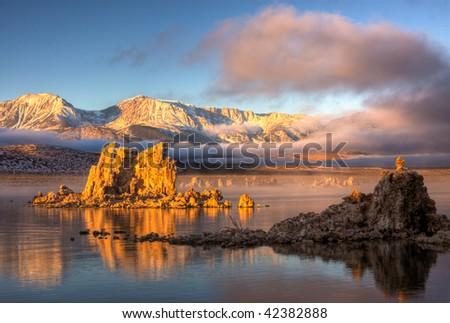 Mono Lake Sunrise 3 - stock photo