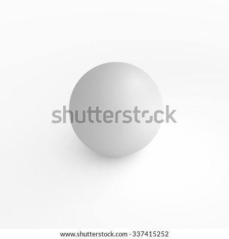 monochrome bowl - blender illustration 3D - stock photo
